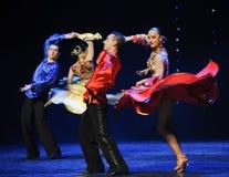 Ballo del mondo di colore dell'Austria dinamica della gonna- Immagine Stock