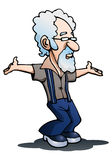Ballo del nonno su bianco Fotografie Stock Libere da Diritti