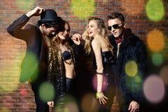 Ballo del partito di notte fotografia stock libera da diritti