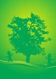 Ballo dell'albero Immagine Stock