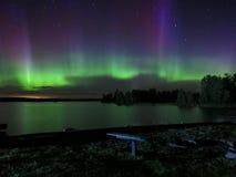 Ballo dell'aurora boreale fotografie stock libere da diritti
