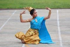 Ballo della cultura degli studenti della Tailandia Fotografia Stock