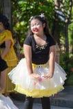 Ballo della cultura degli studenti della Tailandia Fotografia Stock Libera da Diritti