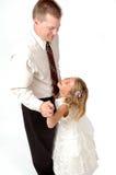 Ballo della figlia e del Daddy Fotografia Stock Libera da Diritti