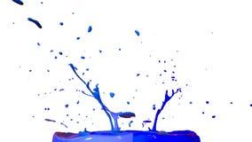 Ballo delle pitture su fondo bianco La simulazione di 3d spruzza di inchiostro su un altoparlante musicale quella musica del gioc Fotografie Stock Libere da Diritti
