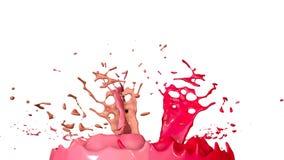 Ballo delle pitture su fondo bianco La simulazione di 3d spruzza di inchiostro su un altoparlante musicale quella musica del gioc Fotografia Stock Libera da Diritti