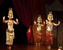 Ballo di Apsara, Cambogia Fotografia Stock