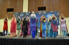 Ballo di Bhangra Fotografia Stock Libera da Diritti