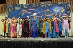 Ballo di Bhangra Immagini Stock