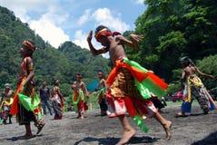 Ballo di Jathilan Fotografie Stock