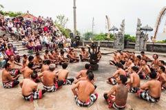 Ballo di Kecak, Uluwatu Fotografie Stock