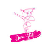 Ballo di logo Fotografia Stock Libera da Diritti