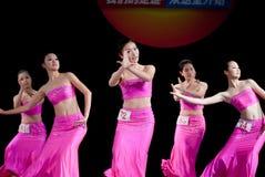 Ballo di luce della luna della nazionalità di DAI--Danza popolare cinese Immagini Stock Libere da Diritti