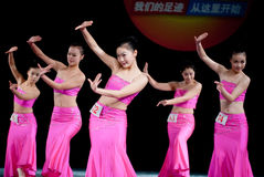 Ballo di luce della luna della nazionalità di DAI--Danza popolare cinese Immagine Stock Libera da Diritti