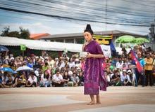 Ballo di manifestazione del Laos della maschera Fotografie Stock Libere da Diritti