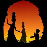 Ballo di piega e musica, India Immagini Stock