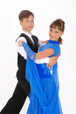 Ballo di sala da ballo di dancing della ragazza e del ragazzo Fotografie Stock Libere da Diritti