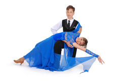Ballo di sala da ballo di dancing della ragazza e del ragazzo Fotografia Stock