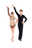 Ballo di sala da ballo di dancing della ragazza e del ragazzo Immagine Stock