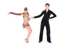 Ballo di sala da ballo di dancing della ragazza e del ragazzo Immagine Stock Libera da Diritti