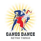 Ballo di tango dei gruppi royalty illustrazione gratis