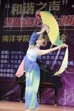 Ballo di ventaglio meraviglioso Fotografia Stock Libera da Diritti