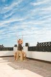 Ballo di yoga Fotografia Stock