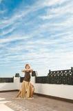 Ballo di yoga Fotografie Stock Libere da Diritti