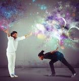 Ballo e lotta Fotografie Stock
