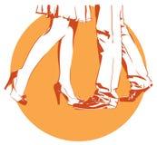 Ballo effeminato e maschile delle gambe illustrazione di stock
