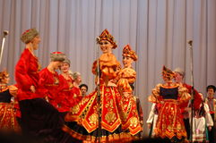 Ballo etnico Barynia Immagine Stock