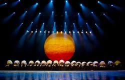 Ballo etnico cinese della nazionalità di Yi Immagini Stock Libere da Diritti