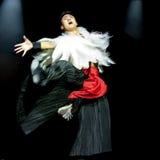 Ballo etnico cinese della nazionalità di Yi Immagini Stock