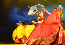 Ballo etnico cinese della nazionalità di Yi Fotografia Stock Libera da Diritti