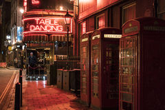 Ballo famoso Antivari al West End di Londra - Soho Londra Regno Unito della Tabella del mulino a vento Fotografia Stock
