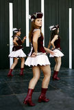 Ballo fuori dai majorettes dal Montenegro Fotografia Stock Libera da Diritti