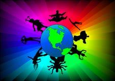 Ballo globale Immagine Stock
