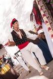 Ballo Ibiza tipico Spagna di folclore Immagine Stock