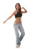 Ballo moderno di giovane jazz femminile di dancing immagini stock