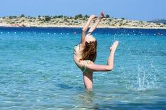 Ballo nel mare Immagini Stock