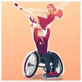 Ballo per la gente con attività disabile Fotografie Stock Libere da Diritti