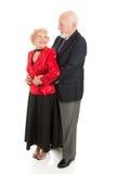 Ballo romantico maggiore Immagine Stock