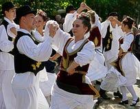 Ballo serbo 4 Fotografie Stock Libere da Diritti