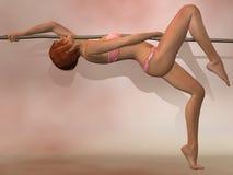 Ballo sexy della corda illustrazione di stock