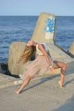 Ballo sulla spiaggia Fotografie Stock Libere da Diritti