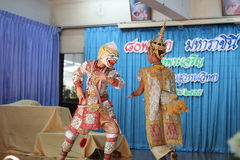 Ballo Tailandia della cultura di Khon Fotografia Stock