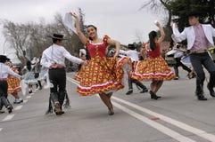 Ballo tradizionale del Cile Fotografia Stock