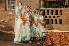 Ballo tradizionale dell'India. fotografia stock libera da diritti