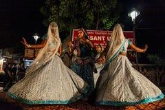Ballo tradizionale dell'India. fotografie stock