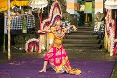 Ballo tradizionale di balinese Fotografia Stock Libera da Diritti